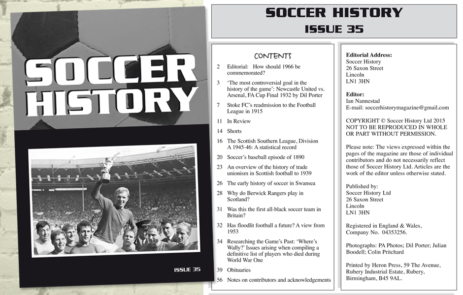 Soccer History - Soccer history beyond the 90 minutes